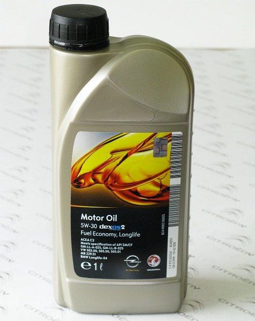 b6cc87f3a7 Motorový olej GM Dexos 2 5W-30 - 1L (originál Opel a Chevrolet ...