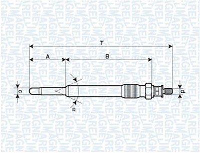 Žhavící svíčka Magneti Marelli pro motory Citroen 2.0 HDi